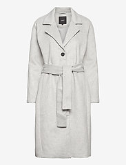 Object - OBJLENA COAT - wool coats - light grey melange - 0