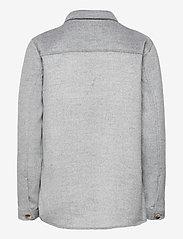 Object - OBJVERA OWEN L/S JACKET - overshirts - medium grey melange - 1