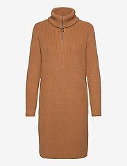 Object - OBJRACHEL L/S KNIT DRESS - everyday dresses - chipmunk - 0