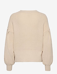 Object - OBJVIOLETTE L/S KNIT PULLOVER - sweaters - sandshell - 1