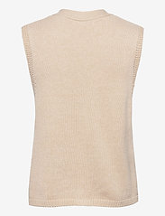Object - OBJLEONORE KNIT WAISTCOAT - knitted vests - sandshell - 1