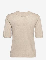 Object - OBJTAMMY S/S  KNIT PULLOVER 114 - t-shirt & tops - sandshell - 1