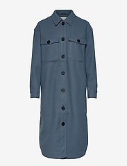 Object - OBJCHILE JACKET - wool coats - blue mirage - 0