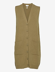 Object - OBJEDITH KNIT WAISTCOAT - knitted vests - nutria - 0