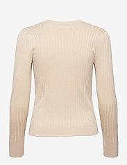 Object - OBJBELLAMIA L/S KNIT PULLOVER - sweaters - sandshell - 1
