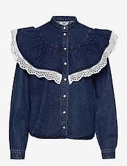 Object - OBJYVONNE DENIM SHIRT - jeansblouses - medium blue denim - 0