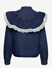 Object - OBJYVONNE DENIM SHIRT - jeansblouses - medium blue denim - 1