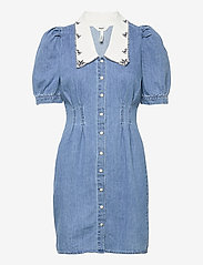 Object - OBJZOE 2/4 DENIM DRESS - medium blue denim - 0