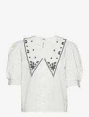 Object - OBJNIDA S/S SHIRT - short-sleeved shirts - cloud dancer - 0