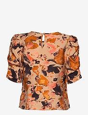 Object - OBJGALINA 2/4 TOP 114 - short-sleeved blouses - sandshell - 1
