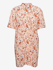 Object - OBJOBDULIA S/S SHIRT - summer dresses - sandshell - 0