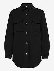 Object - OBJMEZA L/S SHIRT - clothing - black - 0