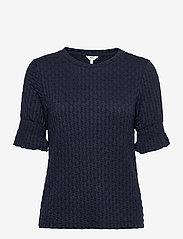 Object - OBJWARINA S/S TOP - t-shirt & tops - sky captain - 0