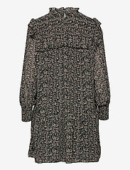 Object - OBJASTA ARYA L/S SMOCK DRESS A LMT - everyday dresses - black - 1