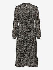 Object - OBJASTA MILA L/S DRESS A LMT - maxi dresses - black - 0