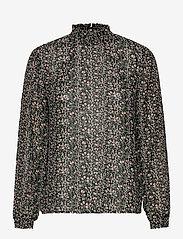Object - OBJASTA DALILA L/S TOP A LMT - long sleeved blouses - black - 0