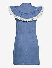 Object - OBJATHENA S/L DRESS - paitamekot - light blue denim - 1