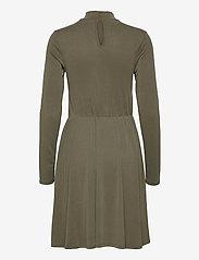Object - OBJNADIA ROSE L/S SHORT DRESS A Q - everyday dresses - forest night - 1