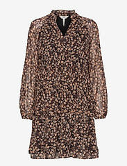 Object - OBJBELLE GIA L/S DRESS A Q - everyday dresses - black - 0