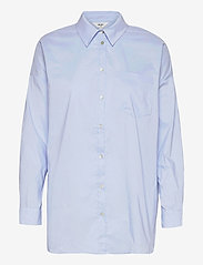 Object - OBJMACY L/S CLASSIC SHIRT A TC2 - long-sleeved shirts - serenity - 0
