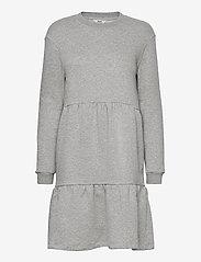 Object - OBJNINY L/S SWEAT DRESS A FAIR - kesämekot - light grey melange - 0