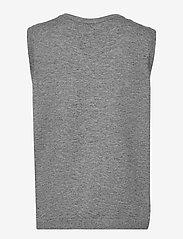 Object - OBJTHESS S/L KNIT WAISTCOAT - neuleliivit - medium grey melange - 1