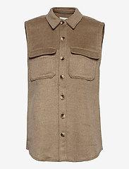 Object - OBJVERA OWEN S/L VEST A DIV - knitted vests - fossil - 0