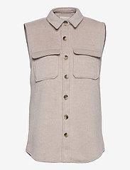 Object - OBJVERA OWEN S/L VEST A DIV - knitted vests - incense - 0