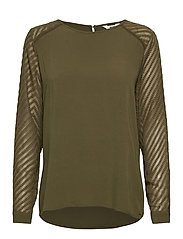 OBJZOE L/S TOP - BURNT OLIVE
