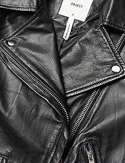 Object - OBJNANDITA LEATHER JACKET - skinnjackor - black - 3