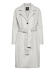 OBJLENA COAT - LIGHT GREY MELANGE