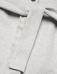 Object - OBJLENA COAT - wool coats - light grey melange - 5