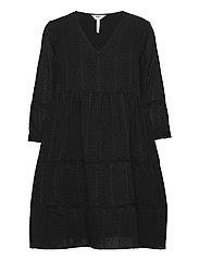 OBJGEILLIS 3/4 DRESS - BLACK