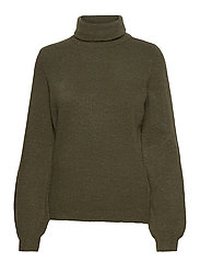 OBJEVE NONSIA ROLLNECK PULLOVER - FOREST NIGHT