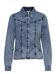 OBJAYA DENIM SHIRT 114 - LIGHT BLUE DENIM