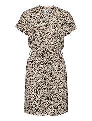 OBJHESSA BIRDY S/S SHIRT DRESS 114 .C - SANDSHELL