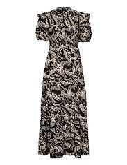 OBJTALUSA S/S MAXI DRESS - BLACK