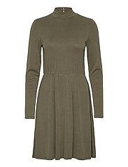 OBJNADIA ROSE L/S SHORT DRESS A Q - FOREST NIGHT