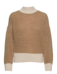 OBJSANA L/S KNIT PULLOVER A OFW - FOSSIL