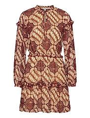 OBJGRIVA L/S SHORT DRESS A OFW - GARDENIA