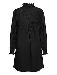 OBJIRIS L/S SHORT DRESS A DIV - BLACK