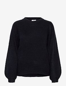 OBJEVE NONSIA LS KNIT PULLOVER NOOS - swetry - sky captain