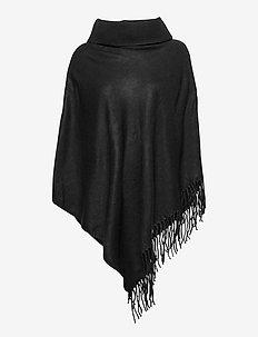 OBJMARILYN WOOL PONCHO - ponchos & capes - black