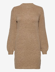 OBJEVE NONSIA L/S KNIT DRESS - knitted dresses - incense