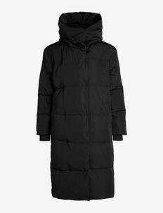 OBJLOUISE LONG DOWN JACKET NOOS - wyściełane płaszcze - black