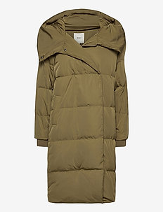 OBJLOUISE LONG DOWN JACKET NOOS - dunkappor - burnt olive