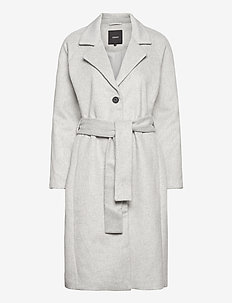 OBJLENA COAT NOOS - wełniane płaszcze - light grey melange