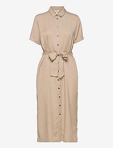 OBJTILDA ISABELLA S/S DRESS SC - midi dresses - humus