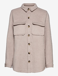 OBJVERA OWEN L/S JACKET - overshirts - incense