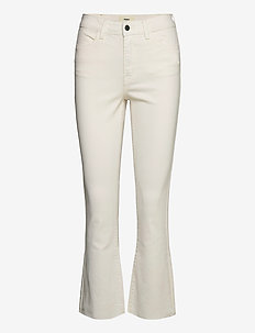 OBJMARINA BELLE KICKFLARED TWILL JEANS - flared jeans - sandshell
